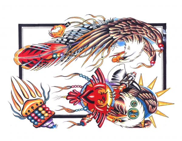 Design Of Magical Tattoo 7, Fantasy Tattoo Designs