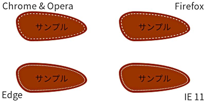 オリジナルデザインのシンプルなツムツム風ボタン