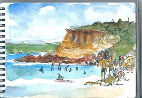 Half Moon Bay My Sketch