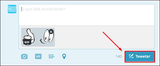 Como publicar fotos ou gifs animados no twitter pela Web - Visual DicasComo publicar fotos ou gifs animados no twitter pela Web - Visual Dicas