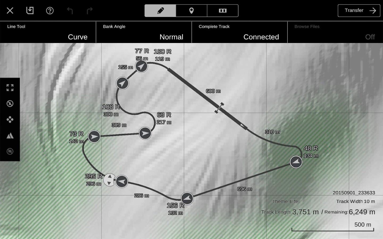 Gt6 track path editor screenshot