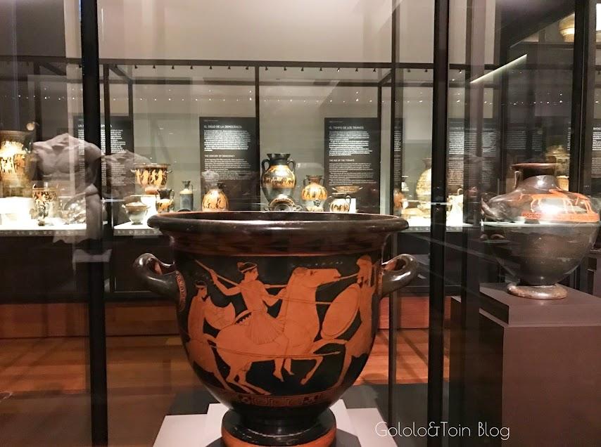 Vasijas griegas en el museo arqueológico nacional