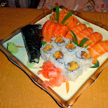 sushi dinner in Toronto, Ontario, Canada