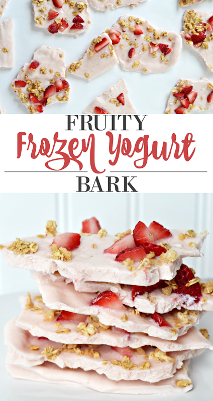 fruity frozen yogurt bark recipe
