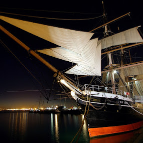 by Christopher Payne - Transportation Boats ( port, ship, sea, sail, ocean, night, boat,  )