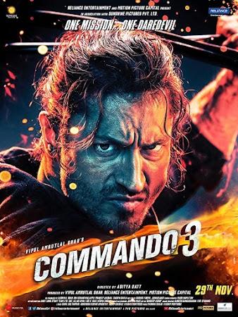Poster Of Bollywood Movie Commando 3 2019 300MB Pdvd Full Hindi Movie
