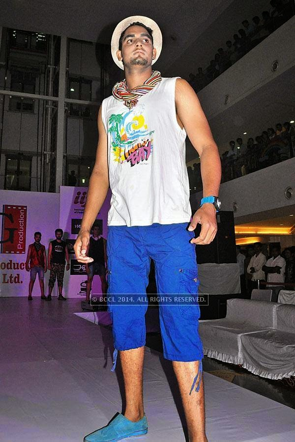 Bhupesh during a fashion show, held at a city mall in Raipur.