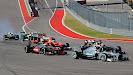 Start of the 2013 US F1 GP 1st corner