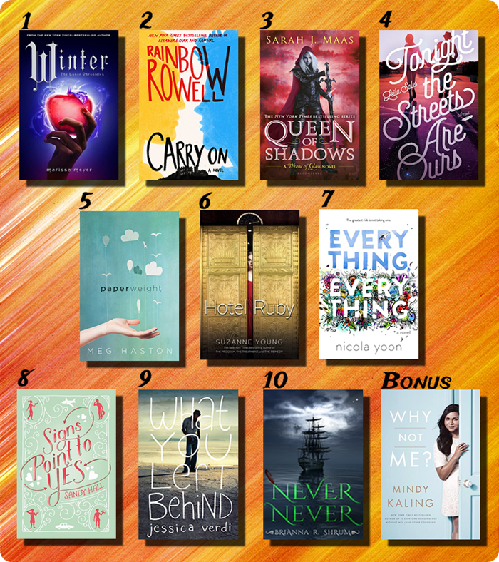 Top 10 new releases second half 2015