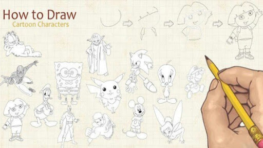 Download How To Draw Cartoon v1.0.6 APK Full - Aplicativos Android