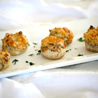 Cream Cheese Stuffed Mushrooms.