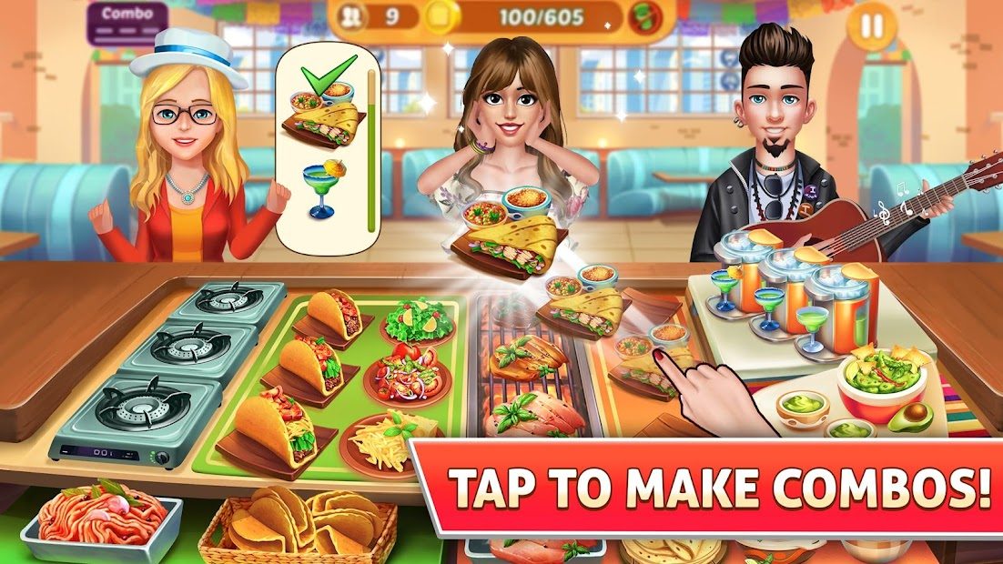 Kitchen Craze: Fever of Frenzy City Cooking Games Android App Screenshot