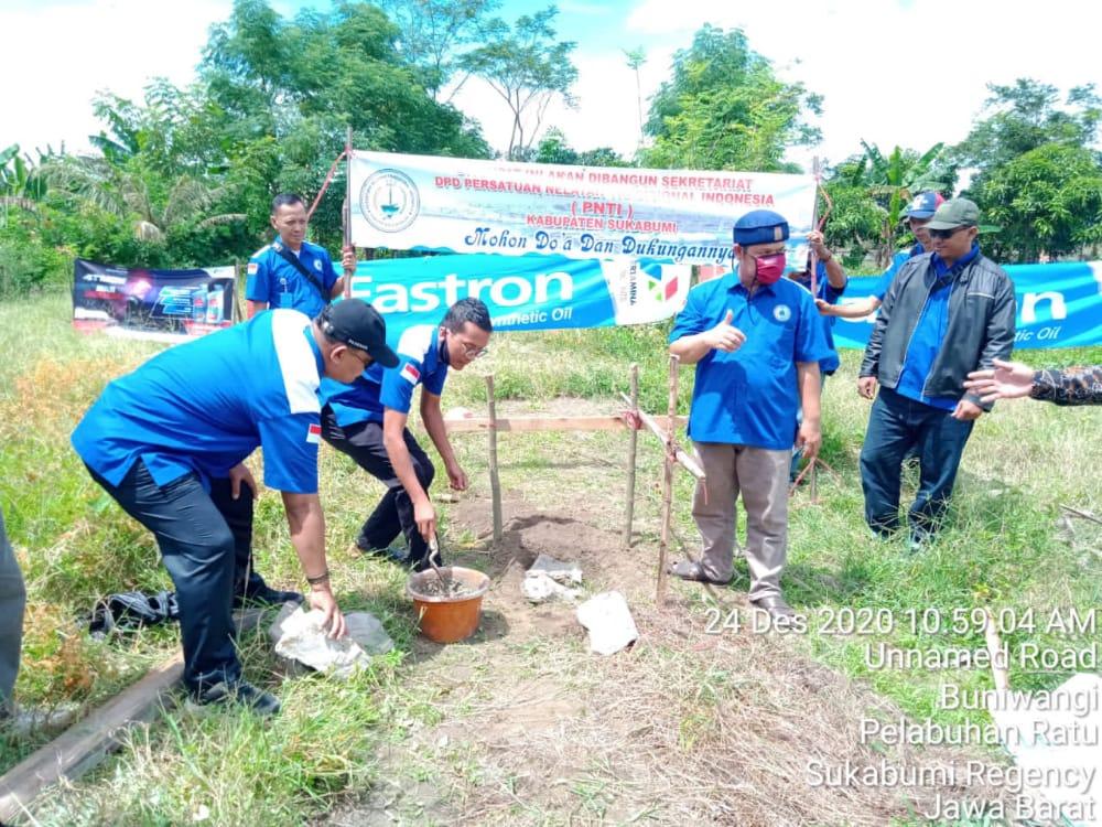 DPD PNTI Kabupaten Sukabumi Gelar Acara Peletakan Batu Pertama Kantor Sekertariat
