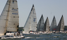 J/111s starting line off Newport / Block Island, RI