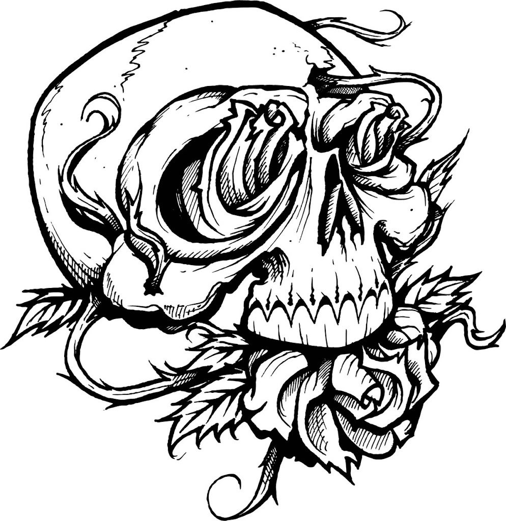 33 Skull Coloring Pages For Adults (FREE) | 1024x994