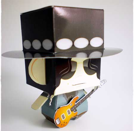 Guns N Roses Slash Paper Toy