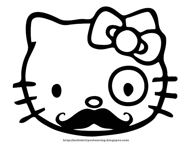 Hello Kitty Mustache Die Cut Vinyl Decal For Windows Vehicle Windows  Vehicle Body Surfaces Or Just About Any Surface That Is Smooth And Clean