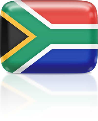 South African flag clipart rectangular