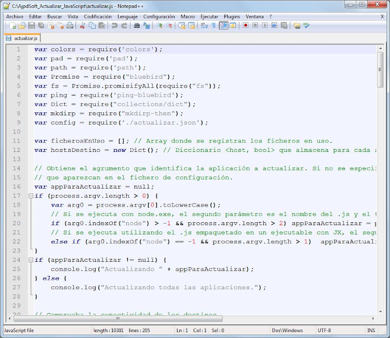 Código JavaScript para copiar carpetas a varios destinos asíncrona