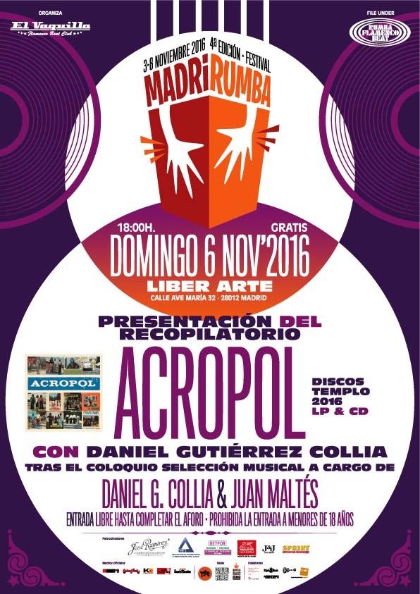 MadriRumba 2016 Cartel Disco Acropol