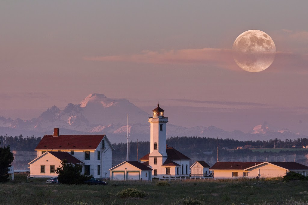 """Point Wilson Super Moon"" by Witta Priester 2nd place Digital General ""A"""