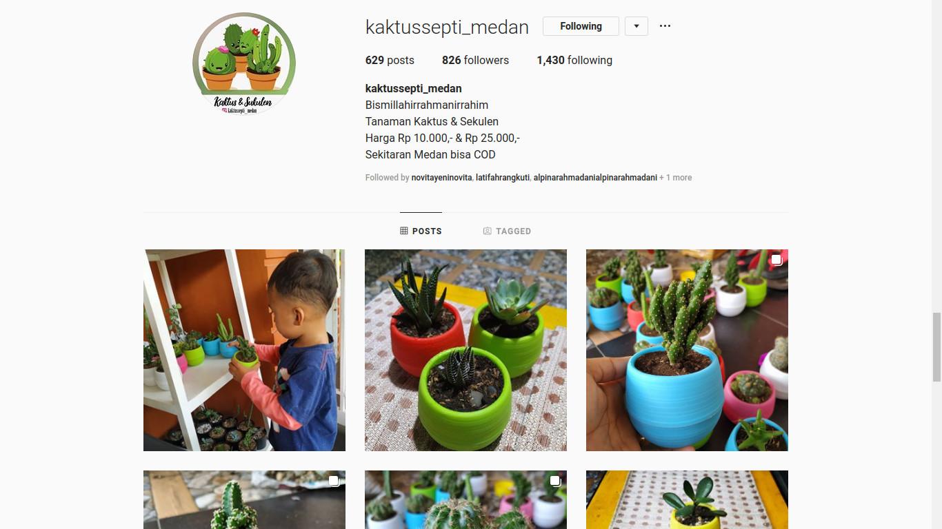 Instagram @kaktussepti_medan