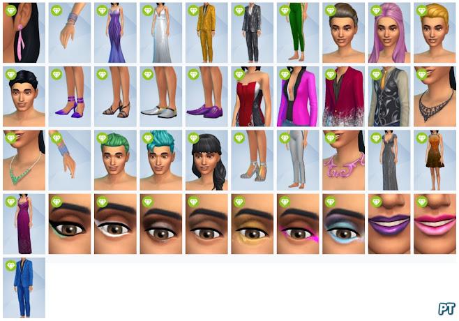 De Sims 4 Luxe Feestaccessoires nieuwe CAS-items