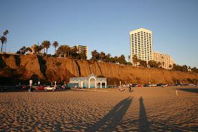 Shadows on Santa Monica Beach