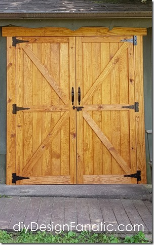 workshop doors, diy doors, mountain cottage, farmhouse, shed doors