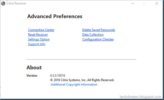 MINDCORE BLOG: Citrix Receiver for Windows 4 5 10018
