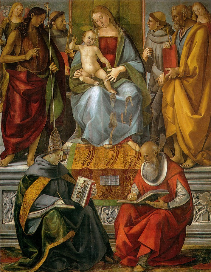 Luca Signorelli - Vergine in trono e santi(Virgin Enthroned with Saints)
