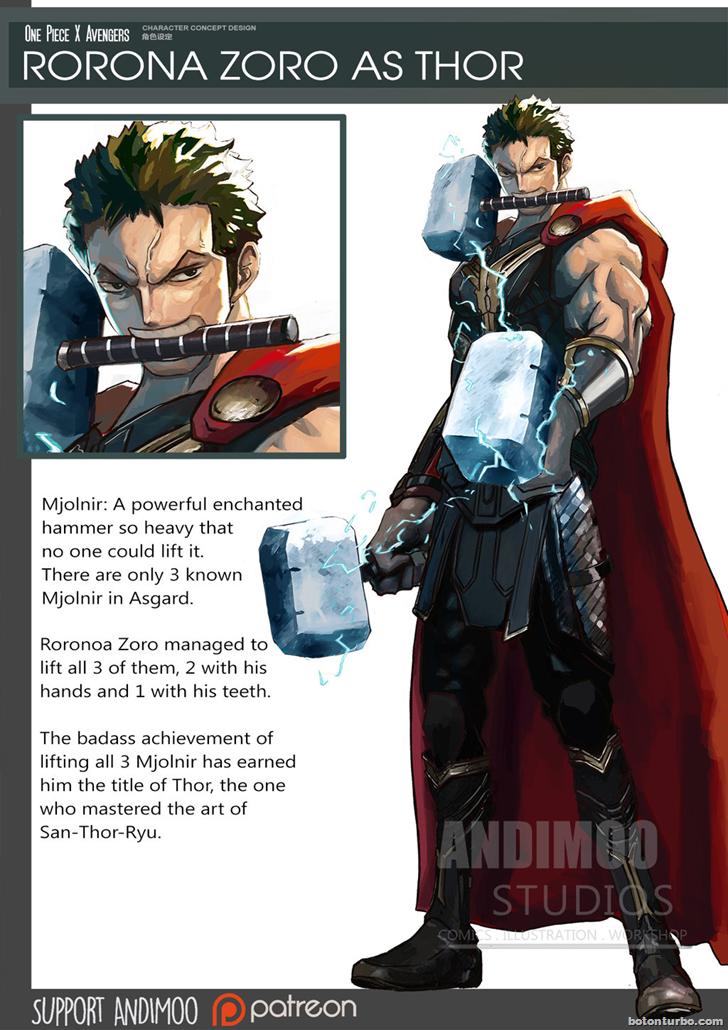 Rorona Zoro como Thor