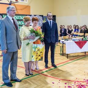 Pożegnanie dyrektora Gimnazjum, pani mgr Janiny Paszty