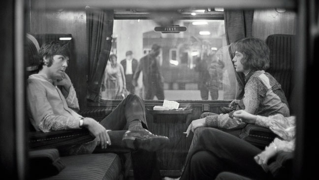 Paul McCartney and Mick Jagger August of 1967 Photo By Victor Blackman