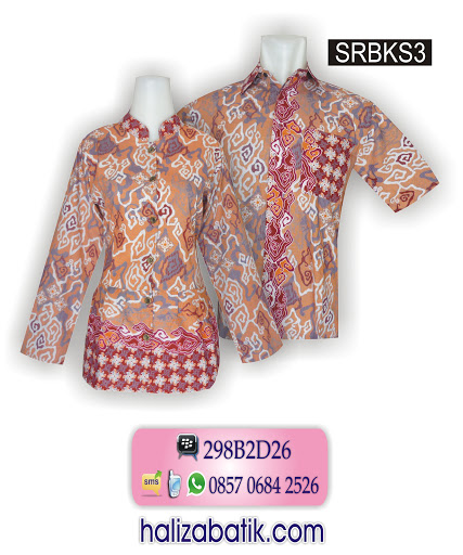 baju couple batik, gambar model baju batik, model baju batik masa kini