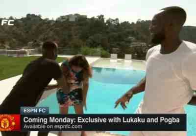 PHOTO: Paul Pogba Pushes Journalist Into Swimming Pool