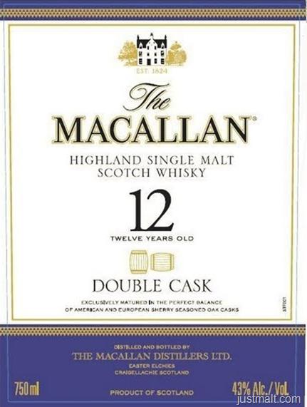 The Macallan Highland Single Malt Scotch Whiskey 12-Year Double Cask
