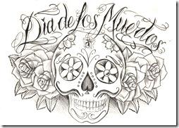 Dibujos Del Dia De Los Muertos Para Colorear Y Pintar
