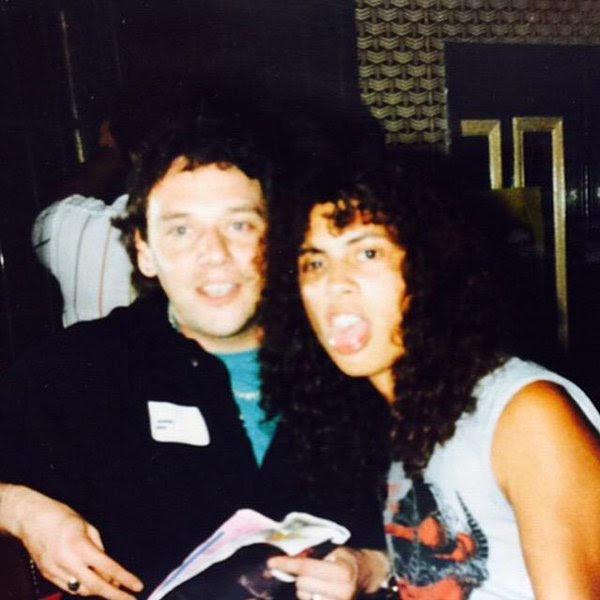 Paul Dianno con Kirk Hammet el Metallico