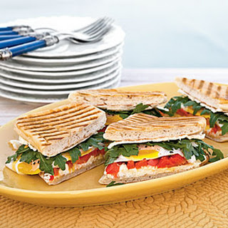 Truffle Goat Cheese & Bell Pepper Breakfast Panini