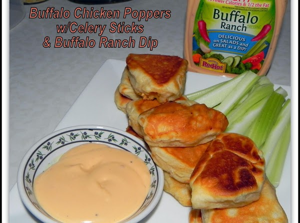 Plate up your poppers, veggies and favorite dips and they are ready to serve.  Still...