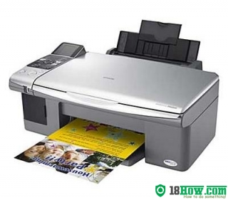 How to reset flashing lights for Epson DX6000 printer