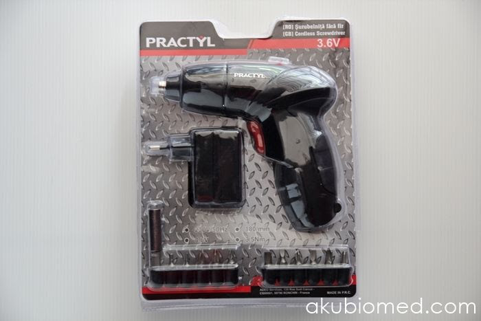Practyl cordless screwdriver dengan 11 bit screw driver.