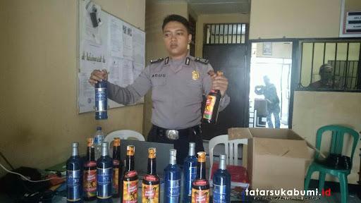 Razia Pedagang Miras di Cibadak, Polisi Sita Barang Bukti