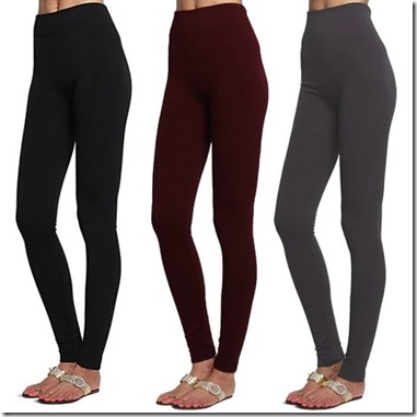Women's 3 Pack Fleece Lined Leggings