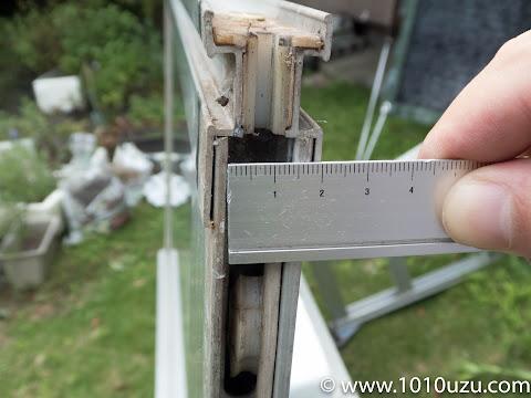 サッシの溝の幅14mm