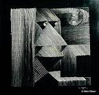 062.1 - Le Rêveur - 1994 50 x 50 - Gravure sur inox poli