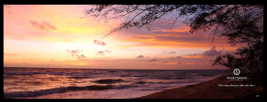 Ngắm hoàng hôn trên biển tại Sunset Sanato Phú Quốc