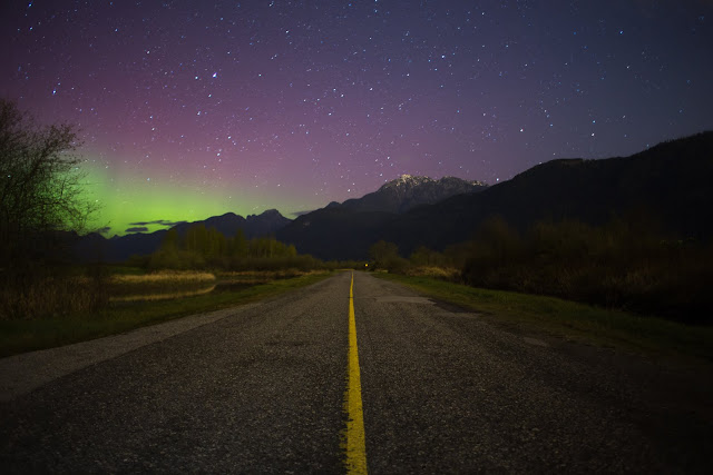Pitt Lake Northern Lights. Photographer Isaac Wray