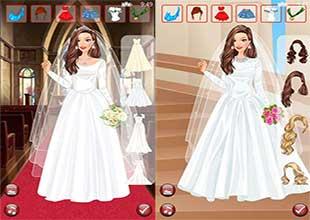 لعبة فساتين الافراح Dress Up Royal Wedding